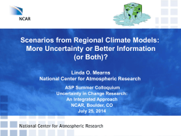 Scenarios from Regional Climate Models