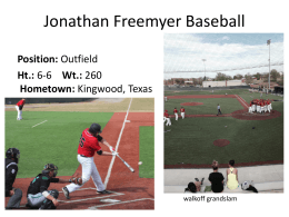 Jonathan Freemyer Baseball