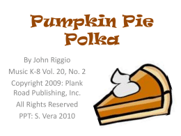 Pumpkin Pie Polka - Bulletin Boards for the Music Classroom