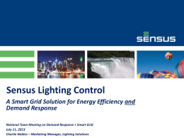 Sensus Lighting Control - National Town Meeting on Demand