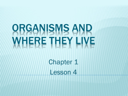Organisms and Where They Live