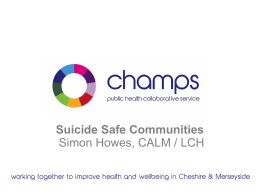 Suicide Safer Communities