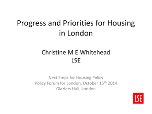 Progress and priorities for housing in the capital