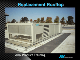 REPLACEMENT MULTIZONE - Coward Environmental Systems