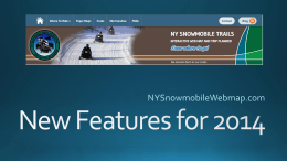 New Features for 2014 - NY Snowmobile Web Map