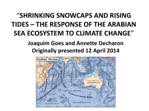 shrinking snowcaps and rising tides * the response of