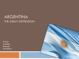 Argentina and the Great Depression