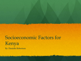 Socioeconomic Factors for Kenya
