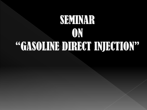 GASOLINE DIRECTT INJECTION(GDI)