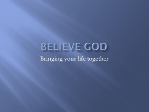 Believe God - Ottawa Church of God