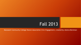 Fall 2013 - Massasoit Community College