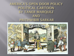 America*s Open Door Policy Political Cartoon By Taner Marquez