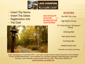 Lake Champion Fall Weekend Marketing PowerPoint Slide