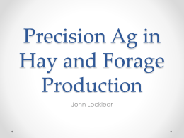 Precision Ag in Hay and Forage Production