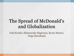 MacD & Globalization (ppt)