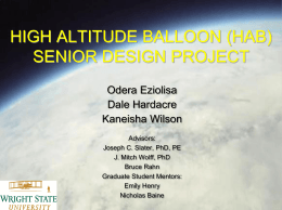 HIGH ALTITUDE BALLOON (HAB) SENIOR DESIGN PROJECT
