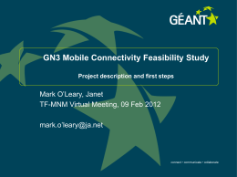 GN3 Mobile Feasibility Study