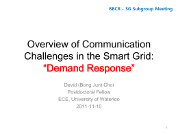 Demand Response - BBCR Group