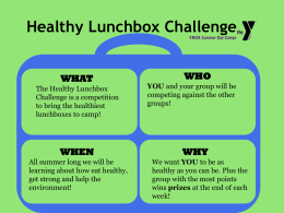 nutrition theme PowerPoint - Healthy Snacks & Lunchbox Challenge