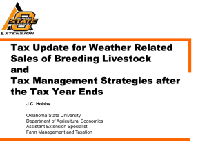 Tax Issues -PPT - Department of Agricultural Economics