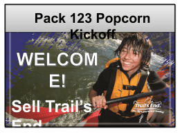 Unit Kickoff Presentation PPT - Trails End