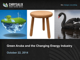 Chrysalix focus: renewables & efficiency plays