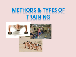 Methods & Types of Training