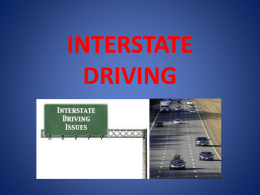 Interstate Driving 1 PowerPoint