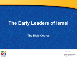Early Leaders of Israel