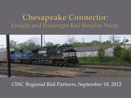 Chesapeake Connector: Freight and Passenger Rail Benefits