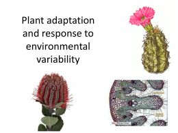 Ch 7 Plant Adaption & Response - SandyBiology1-2