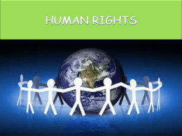 Human Rights - Liceo Scientifico Galileo Galilei Pescara