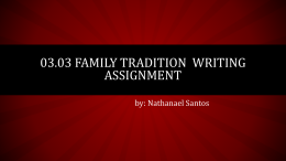 thefamiliytraditionwrittingassignenment
