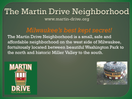 presentation - Martin Drive Neighborhood, Milwaukee