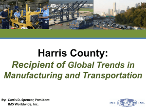Harris County Global Trends in Manufacturing and Transportation