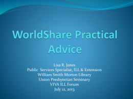 Navigating from OCLC First Search to WorldShare ILL