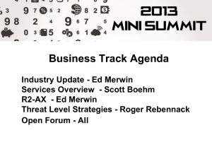 Ed Merwin - Industry Update (9MB, ) - Niagara Mini