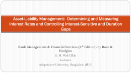 Asset-Liability Management: Determining and Measuring
