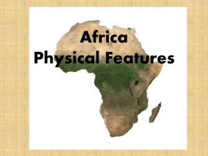Africa Landforms and Environment