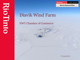 Wind Farm 040412 - NWT Chamber of Commerce