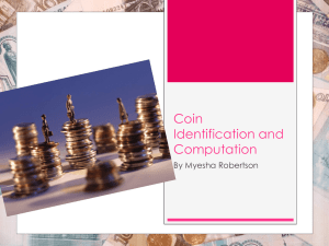 Coin Identification powerpoint