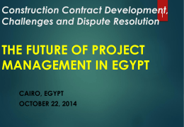 The Future of Project Management in Egypt