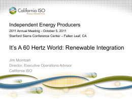 Jim Mcintosh - CAISO Renewable Integration