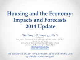 Housing and the Economy: Impacts and Forecasts 2014 Update