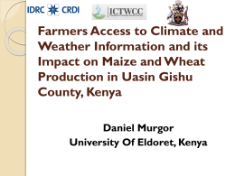 Farmers Access to Climate and Weather Information and its Impact