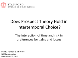 Does Prospect Theory Hold in Intertemporal