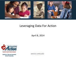 Leveraging Data for Action PowerPoint