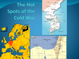 4. The Hot Spots of the Cold War