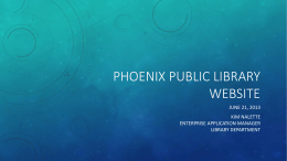Phoenix Public Library WebSITE