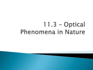 11.3 - Optical Phenomena in Nature